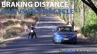Can a Motorcycle Brake Faster Than a Car?