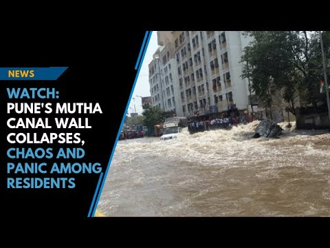 Watch: Pune's Mutha canal wall collapses, chaos and panic among residents