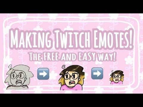 How to Make & Resize Custom TWITCH EMOTES - YouTube