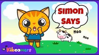 Simon Says   Music Game for Kids   Simon Says Song   Simon Says for Kids   The Kiboomers