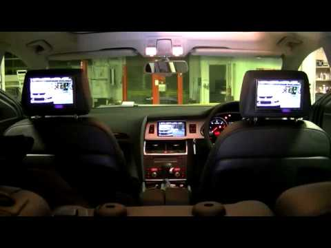 audi q7 4l rear seat entertainment system demonstration. Black Bedroom Furniture Sets. Home Design Ideas
