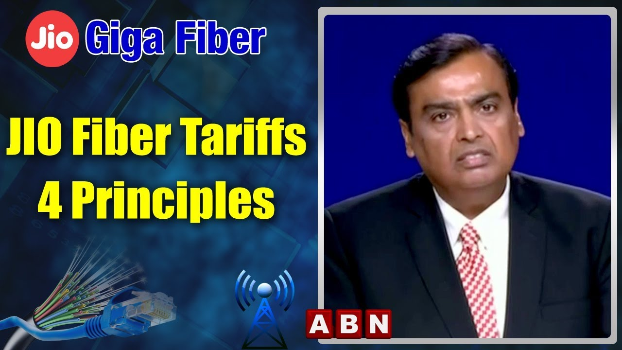 Reliance AGM 2019 | JIO Fiber Tariffs Based On Four Principles | ABN