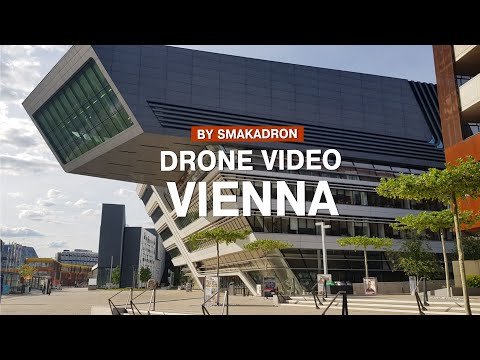 Vienna University of Economics Austria aerial drone 4K by smakadron promo