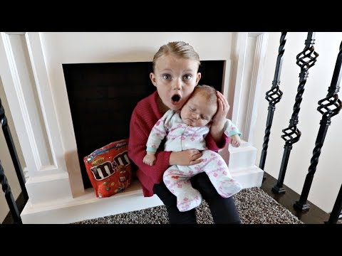 Thumbnail: CUTE BABY STEALS M&M CANDY!! | HIDE AND SEEK!