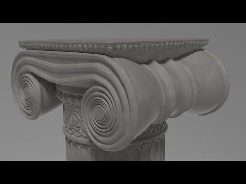 Column (Ionic Order) Timelapse / Процесс создания Ионического Ордера