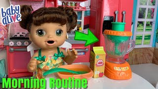 Baby Alive Magical Mixer Morning Routine