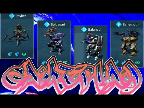 War Robots Rayker Bulgasari Galahad Behemoth Domination Mode Gameplay
