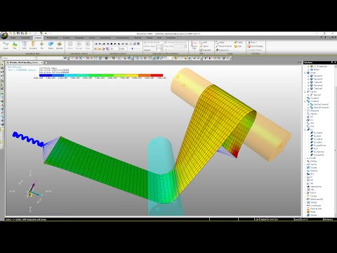 RecurDyn V8R5 What's New -  Geo Cylinder Contact