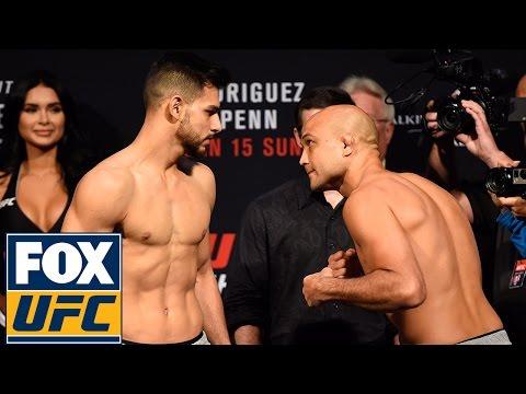 B.J. Penn vs. Yair Rodriguez | UFC FIGHT NIGHT 103 WEIGH-IN