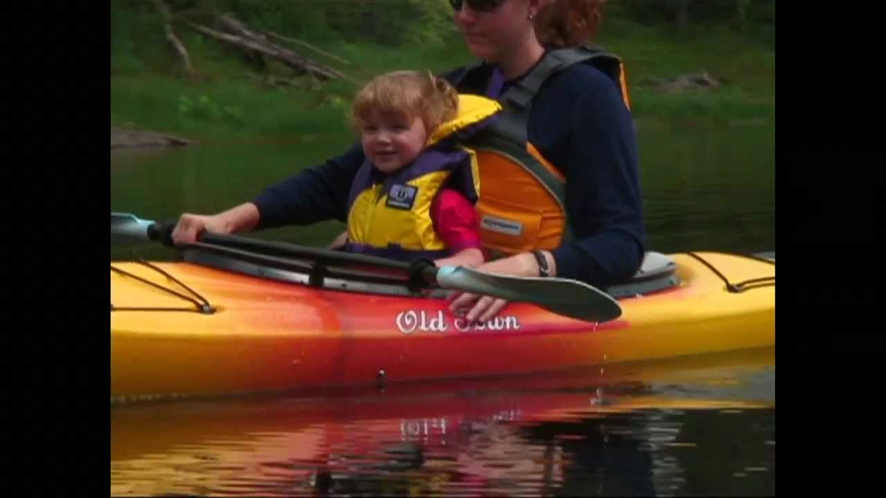 how to kayak with kids youtube