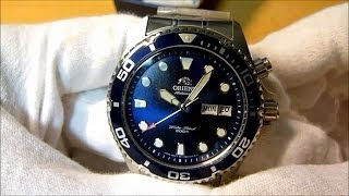 orient blue ray em65009d diver automatic watch review hd