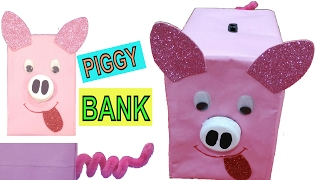 HOW TO MAKE PIGGY BANK  |  BEST OUT OF WASTE COMPETITION IN SCHOOL | PIGGY BANK FOR KIDS |EASY CRAFT