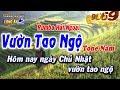 Karaoke Nhạc sống - Vườn Tao Ngộ | Tone Nam | Beat chất lượng cao 9669