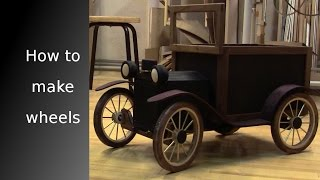 ᐉ Little car, Part 1: How to make wooden wheels