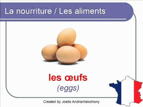 French Lesson 28 - FOOD VOCABULARY - NOURRITURE / ALIMENTS Vocabulaire - Alimentos en francés