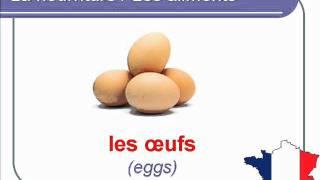 French Lesson 28 - FOOD VOCABULARY - NOURRITURE / ALIMENTS Vocabulaire - Alimentos en francés