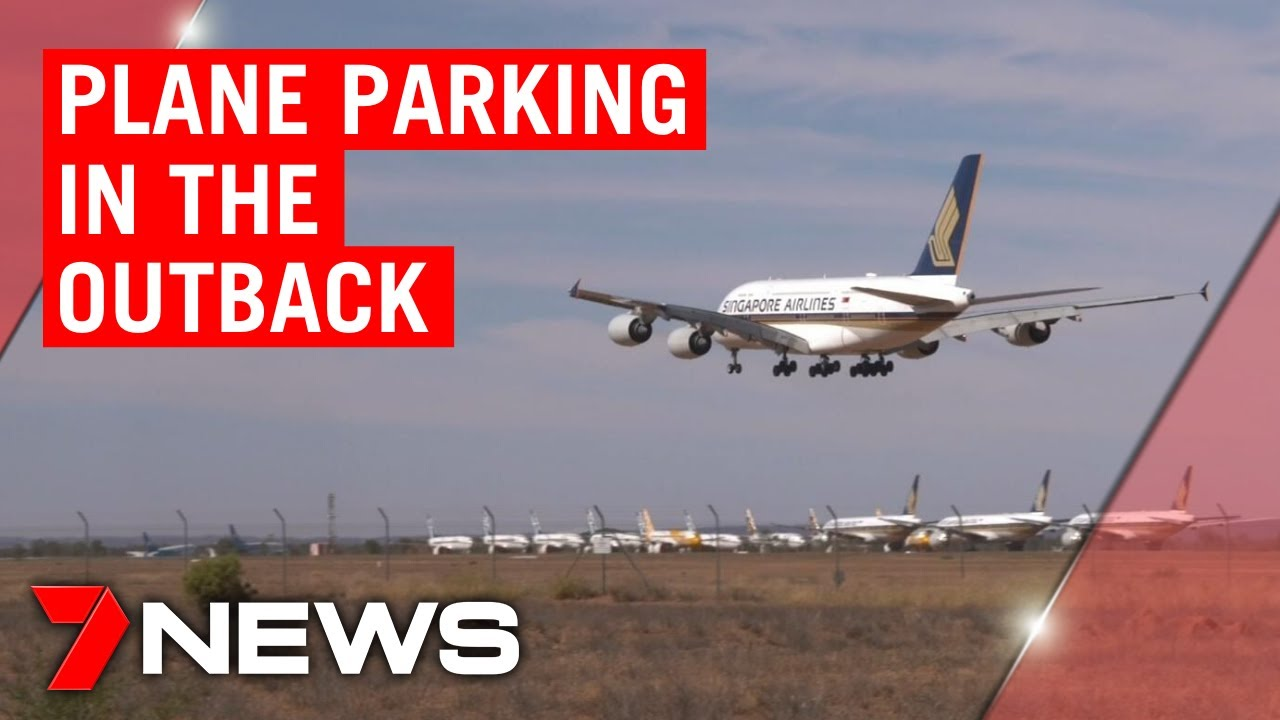 Coronavirus: Alice Springs becomes parking lot for grounded planes   7NEWS  - YouTube