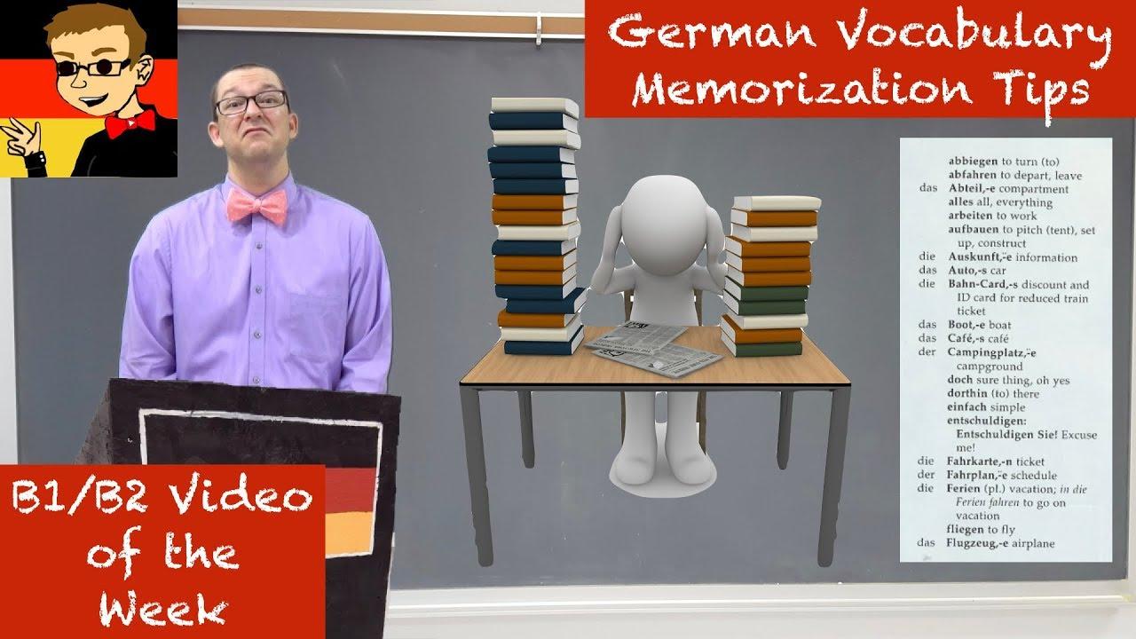 Intermediate German #27 Vocabulary Memorization Tips  Youtube