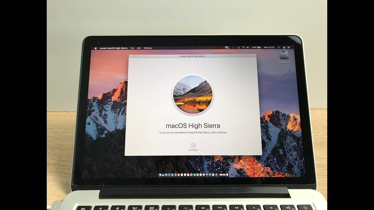 New macOS High Sierra Install