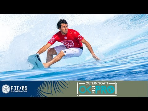 Jeremy Flores Earns Highest Score So Far at the Outerknown Fiji Pro 2017