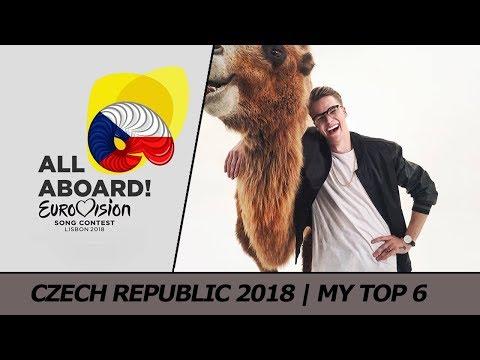 Eurovision 2018 CZECH REPUBLIC   My Top 6