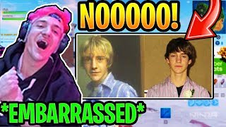NINJA *ACCIDENTLY* LEAKS MYSPACE ACCOUNT with OLD PICS ON STREAM (EMBARRASSING) Fortnite Moments