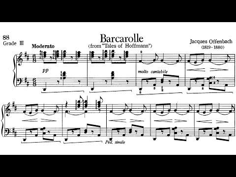 Piano Pieces for Children Grade 3 No.16 Offenbach Barcarolle (P.88) Sheet Music