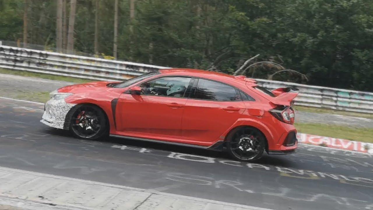 2020 Honda Civic Type R Facelift testing on the Nürburgring - YouTube