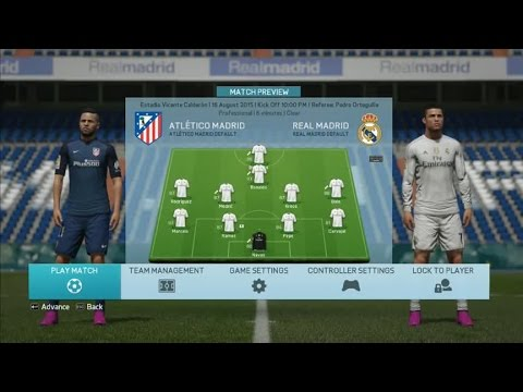 Real Vs Athletico - Madrid Derby - Fifa 16 Gameplay Full Match HD