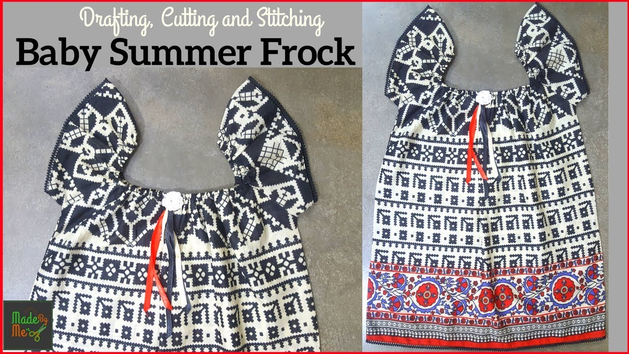 60aba2f32 Baby Frock Design (Summer Design Frock) - Cutting and Stitching in Hindi  Urdu (Baby Frock Design 1)