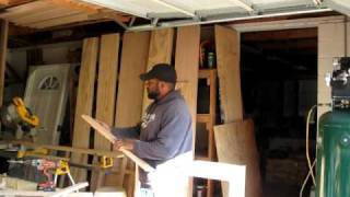 Pastor Dowell Building Custom Cabinets!
