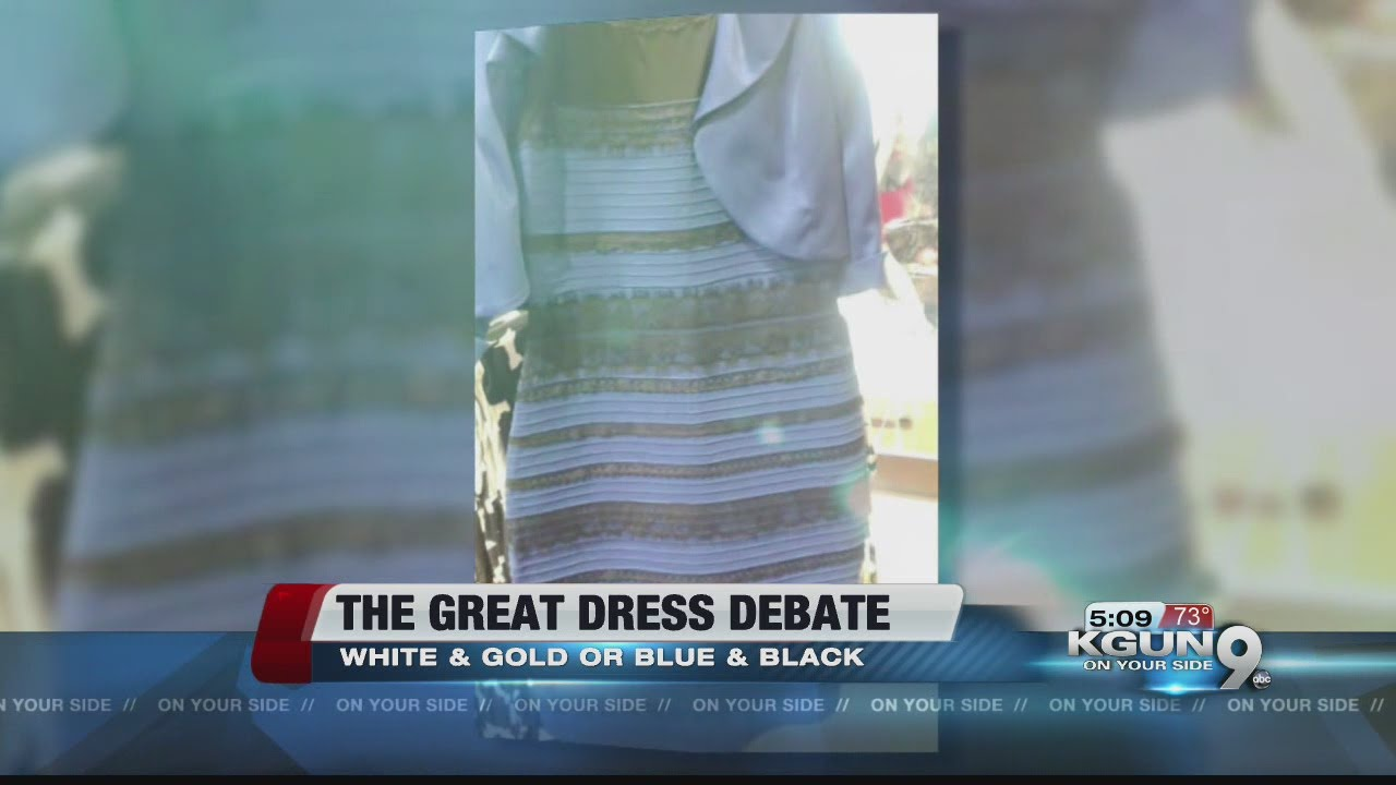 Why we see different colors in the dress