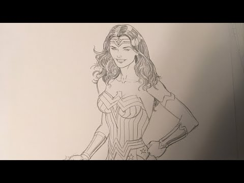ANYONE CAN DRAW WONDER WOMAN!  I'll show you!