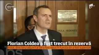 Comisia de anchetă internă a SRI l-a găsit nevinovat pe Florian Coldea, fostul director adjunct
