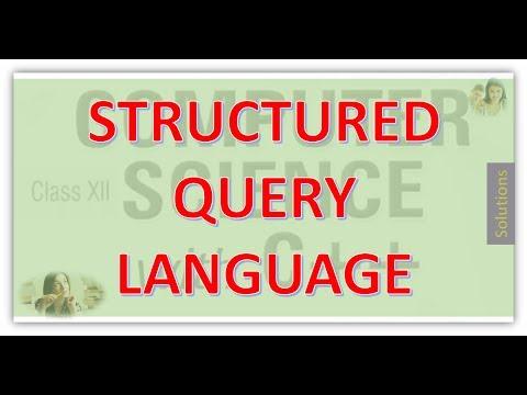 CLASS 12 CS STRUCTURED QUERY LANGUAGE PART 1