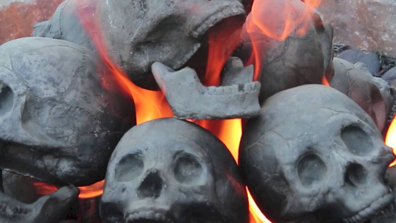 "36"" Skull Fire Pit - YouTube"
