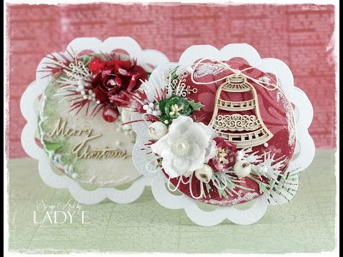2 Shaped Christmas Cards Tutorial