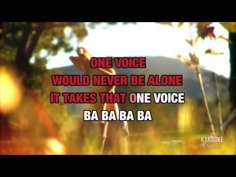 "One Voice in the Style of ""Barry Manilow"" with lyrics (no lead vocal)"