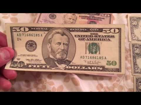 Star Note 50 Dollar Bills New Old