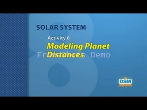 Solar System - Activity 8: Modeling Planet Distances - YouTube