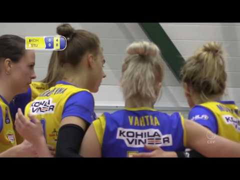 KOHILA VK (ESTONIA)  v ALLIANZ SMTV STUTTGART (GERMANY) =  CEV CUP 25 01 2017