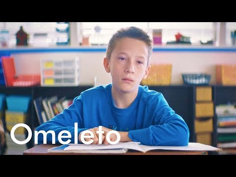 A nervous boy stutters trying to talk to his crush. So he gets creative with a tape recorder.