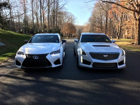 2017 Cadillac CTS-V vs.  2016 Lexus GS F – Redline: Comparison
