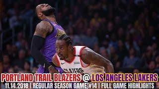 Portland Trail Blazers vs Los Angeles Lakers - Full Game Highlights - November 14, 2018