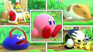 Kirby Star Allies: All Kirby & Friend's IDLE ANIMATIONS