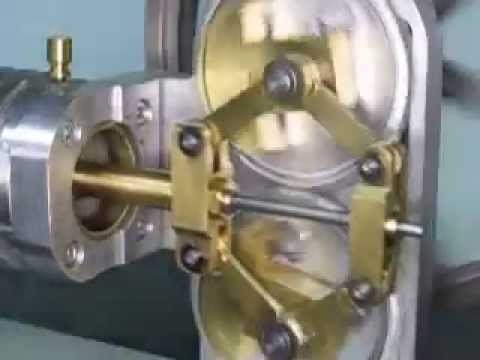 Stirling Engine with Rhombic Drive  (highspeed)
