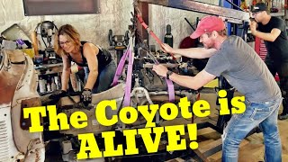 Coyote swapped F100 PROGRESS! In the shop with Emily EP 49