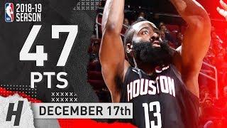 James Harden CLUTCH Highlights Rockets vs Jazz  2018.12.17 - 47 Pts, 5 Ast, 6 Rebounds!