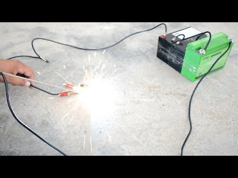 How to Make Welding Machine Using 12 volt Battery Easy Way at Home | 3 Minutes | Home Made