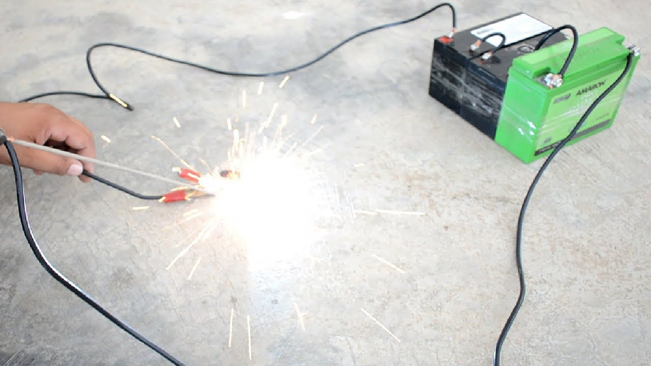 How To Make Welding Machine Using 12 Volt Battery Easy Way At Home Gas Equipment Diagram Emergencyweldingmachine 12voltbatterywelding Arcweldingmachine